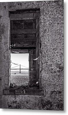 Golden Gate Bridge From Alcatraz Metal Print by Mike Burgquist
