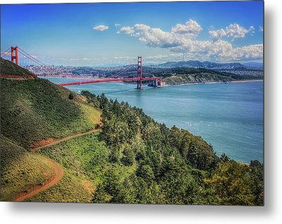 Golden Gate Bridge From The  Marin Headlands Metal Print by Jennifer Rondinelli Reilly - Fine Art Photography