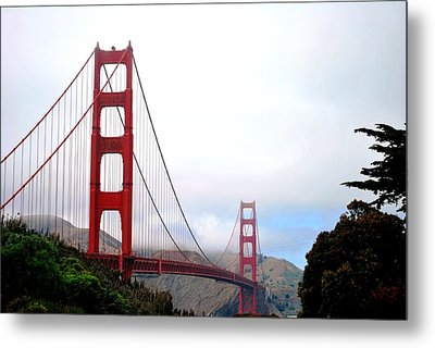 Golden Gate Bridge Full View Metal Print