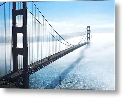 Golden Gate Bridge Metal Print by Happy Home Artistry