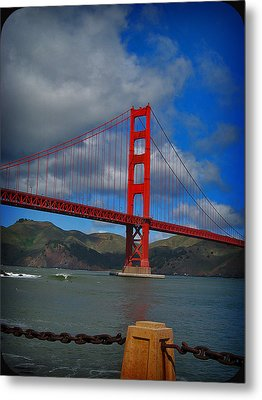 Metal Print featuring the photograph Golden Gate Bridge by Kim Pascu