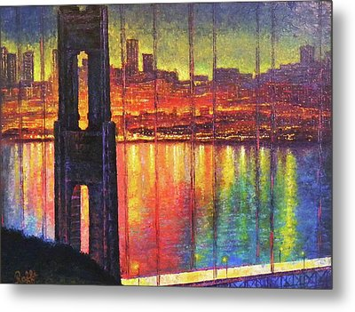 Golden Gate Bridge Metal Print by Raffi Jacobian