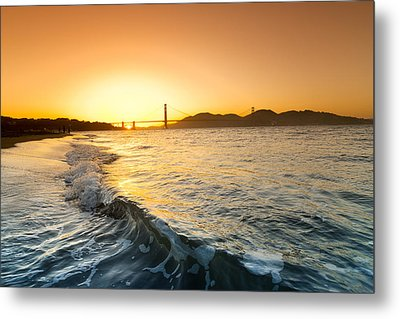 Golden Gate Curl Metal Print by Sean Davey