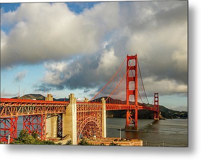 Metal Print featuring the photograph Golden Gate From Above Ft. Point by Bill Gallagher