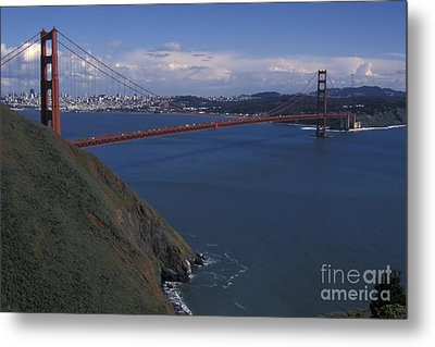 Golden Gate From Marin Headlands Metal Print