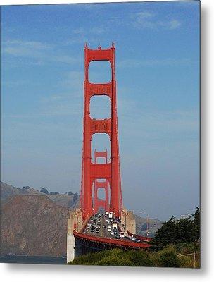 Golden Gate Head On Metal Print