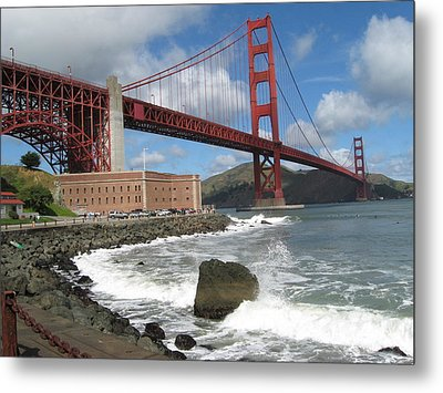 Metal Print featuring the photograph Golden Gate by Kim Pascu