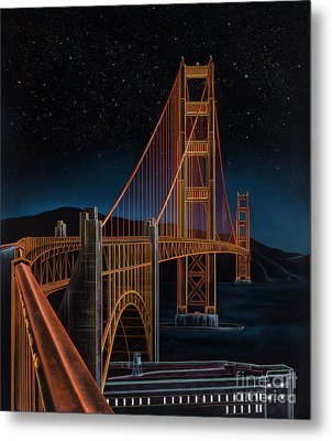 Golden Gate Metal Print by Lynette Cook