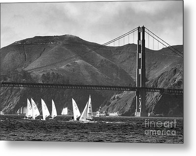 Golden Gate Seascape Metal Print