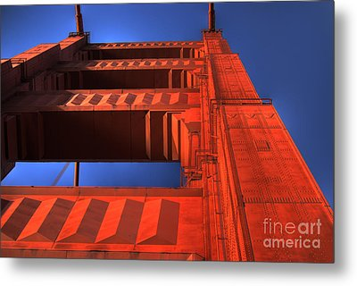 Golden Gate Tower Metal Print by Jim And Emily Bush