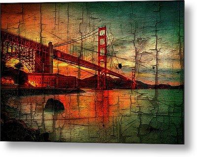 Golden Gate Weathered Metal Print