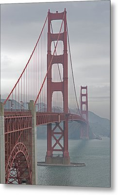 Golden Gateway Bridge Metal Print