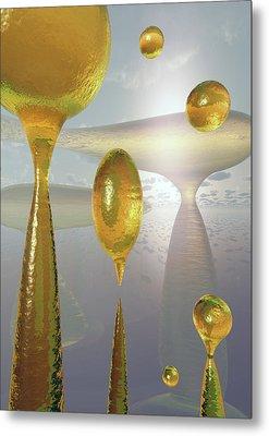 Golden Globs Metal Print by Richard Rizzo