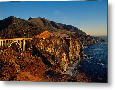 Golden Glow On Big Sur 2 Metal Print by Kathy Yates