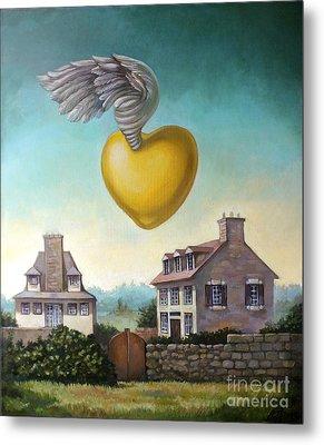Golden Heart Metal Print by Filip Mihail