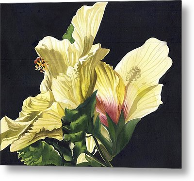 Golden Hibiscus Metal Print by Alfred Ng