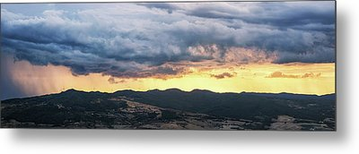 Golden Hour In Volterra Metal Print