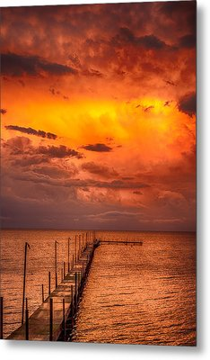 Golden Hour On Lake Milacs Metal Print by Paul Freidlund