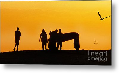 The Golden Hour Metal Print by Rhonda Strickland