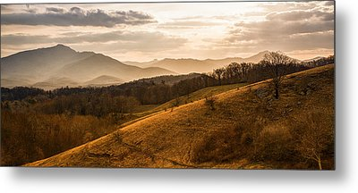 Grandfather Mountain Sunset - Moses Cone Blue Ridge Parkway Metal Print
