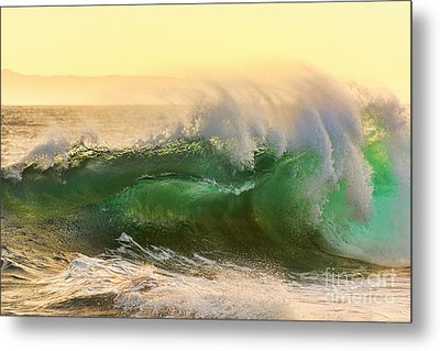 Metal Print featuring the photograph Golden Hour Waves by Eddie Yerkish