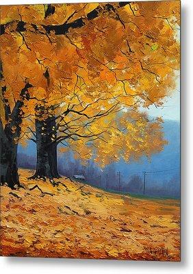 Golden Leaves Metal Print by Graham Gercken