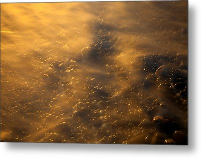 Golden Light Metal Print by Mike  Dawson