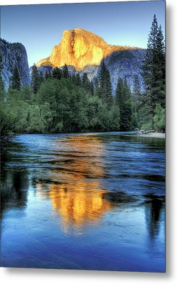 Golden Light On Half Dome Metal Print by Mimi Ditchie Photography