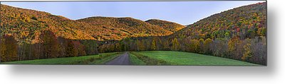Metal Print featuring the photograph Golden Light On The Catskills by Mark Papke