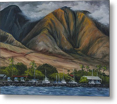 Metal Print featuring the painting Golden Light West Maui  by Darice Machel McGuire