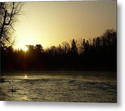 Metal Print featuring the photograph Golden Mississippi River Sunrise by Kent Lorentzen