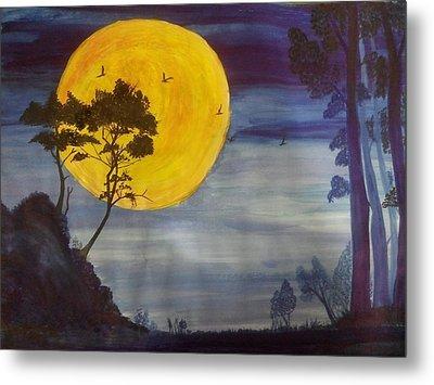 Golden Moon Metal Print by Archana Saxena