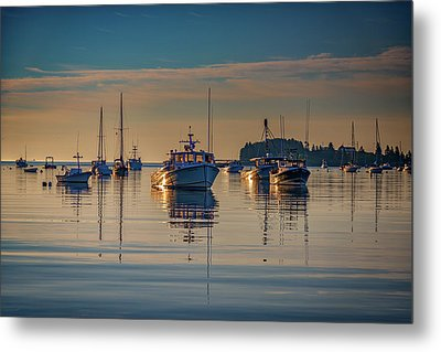 Golden Morning In Tenants Harbor Metal Print