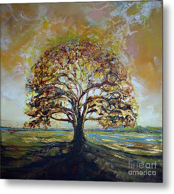 Golden Oak Metal Print by Michele Hollister - for Nancy Asbell
