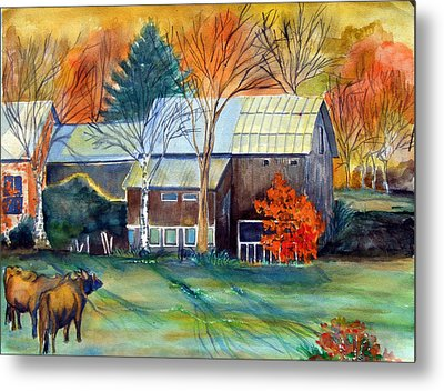 Golden Ohio Metal Print by Mindy Newman