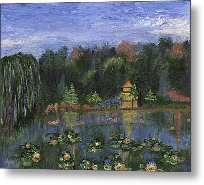 Metal Print featuring the painting Golden Pagoda by Jamie Frier