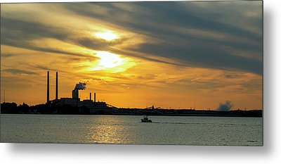 Golden Pano On The Patapsco Metal Print