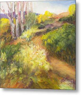 Golden Pathway Metal Print by Glory Wood