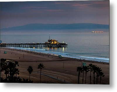 Golden Pier Metal Print