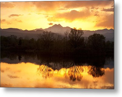 Golden Ponds Longmont Colorado Metal Print