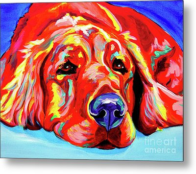 Golden Retriever - Ranger Metal Print by Alicia VanNoy Call