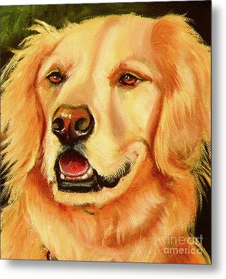 Golden Retriever Sweet As Sugar Metal Print by Susan A Becker