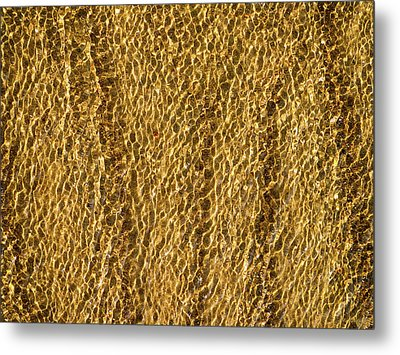 Golden Ripples Metal Print