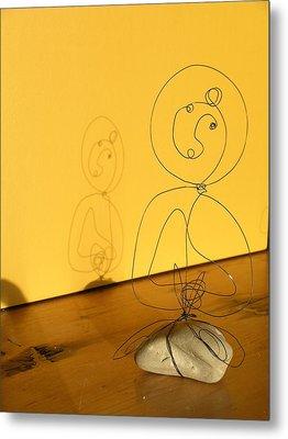 Golden Shadow Metal Print by Live Wire Spirit