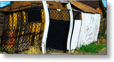 Golden Shed Metal Print by Lenore Senior