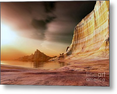 Golden Shores Metal Print by Corey Ford