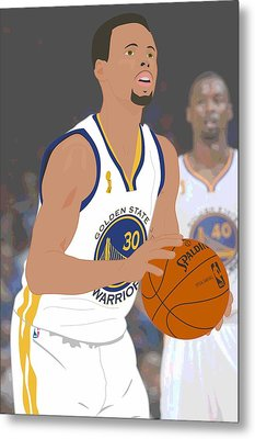 Golden State Warriors - Stephen Curry - 2015 Metal Print by Troy Arthur Graphics