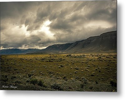 Metal Print featuring the photograph Golden Storm by Andrew Matwijec