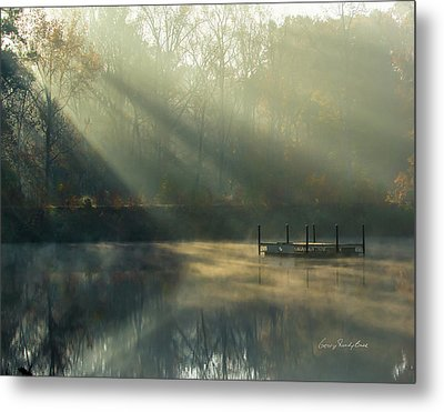 Metal Print featuring the photograph Golden Sun Rays by George Randy Bass