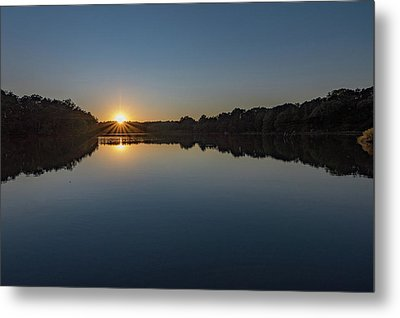 Metal Print featuring the photograph Golden Sunset by Charles Kraus